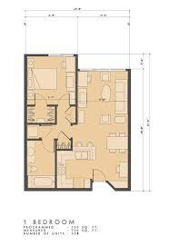 One Bedroom Floor Plans Floorplans Shores Marina Del Rey