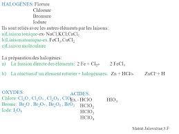 les halogenes les halogènes ce sont les éléments chimiques de la 17 e colonne du