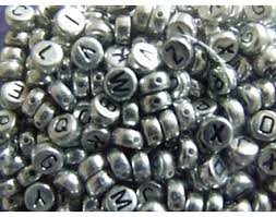 400 silver alphabet letter beads for kids crafts