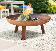 Large Firepits Large Industrial Style Steel Firepit By Garden Leisure