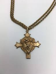 crown of thorns necklace jesus necklace vintage religious necklace cross necklace crown of