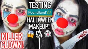 killer clown makeup halloween killer clown tutorial testing poundland halloween makeup youtube