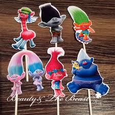 aliexpress buy singing trolls clipart cupcake toppers trolls