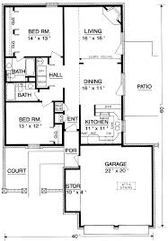 Garage Floor Plans Free Traditional Style House Plan 2 Beds 00 Baths 1200 Sqft Feet Luxihome