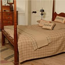Colonial Coverlets Tan U0026 Black Check Queen Woven Coverlet Piper Classics