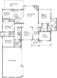 split house plans open floor plan split ranch 24352tw architectural designs