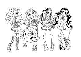 monster girls coloring girls kids coloring