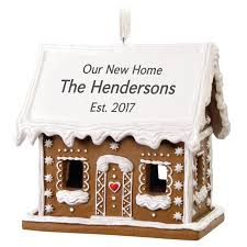 personalized gingerbread house ornament personalized ornaments