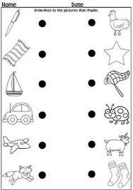 free printable rhymes rhyming words worksheets for preschool