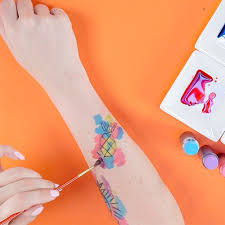 temporary watercolor tattoo video popsugar beauty