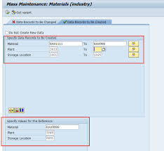 Sap Material Master Tables by Sap Mmsc Mass U2013 Mass Extension Of Storage Locations View Of