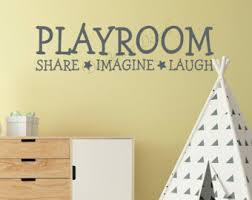 Wall Decal For Kids Room by Playroom Wall Decor Etsy