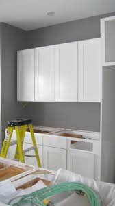 White Kitchen Cabinets With Grey Walls by I Married A Tree Hugger December 2011