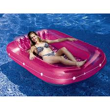 Inflatable Pool Floats by Inflatable Pool Float Lounge Tanning Air Mattress Pink Floating