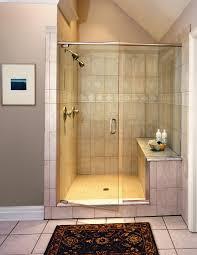 bathroom contemporary bathroom design with glass corner shower