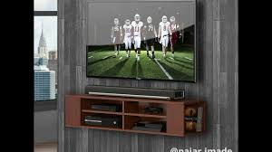 Wall Mounted Entertainment Console Fitueyes Wall Mounted Media Console Shelf Youtube