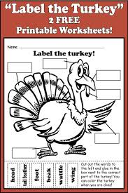 free label the turkey thanksgiving worksheet 2 printable versions
