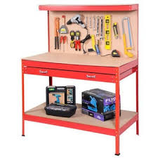 assembly garage folding steel portable tool work bench with