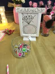 what do you put on a bridal shower registry put a ring on it bridal shower diy bridal shower candy bar