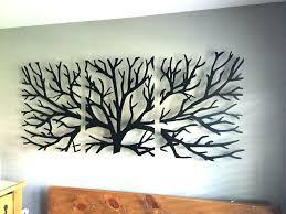 Fascinating Tree Life Wall Decor Medium Size Black Metal