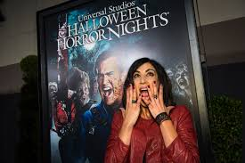 saw at halloween horror nights video actress dana delorenzo tours the u0027ash vs evil dead