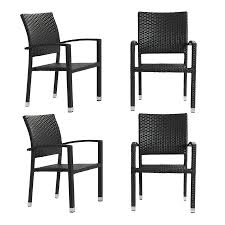 Outdoor Dining Chairs Shop Modway Bella 4 Count Espresso Rattan Plastic Patio Dining