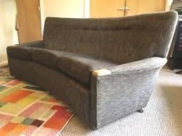 vintage retro mid century moquette curved sofa settee 1950s 1960s