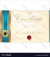 luxury certificate template royalty free vector image