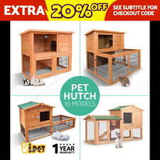 Rabbit Hutch With Detachable Run Guinea Pig Hutch Supplies Ebay