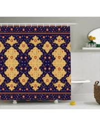 huge deal on moroccan shower curtain traditional arabic border