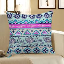 home decor floral geometric print pillow case colorful cm in