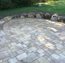 Circular Paver Patio Holt Landscape Construction
