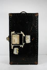 Vintage Antique Home Decor Antique Steamer Trunk Hard Case Travel Luggage Vintage Home Decor