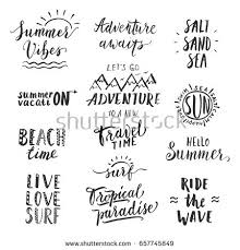 travel phrases images Travel lifestyle motivational phrases set hand stock vector hd jpg
