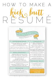 How To Make An Resume How To Make A Kick Resumé Whitney Blake