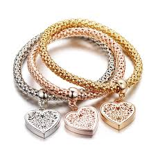 rose gold heart charm bracelet images Cheap rose gold heart charm find rose gold heart charm deals on jpg