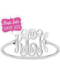 monogram bracelet silver don t miss this deal flash sale 30 monogram bracelet silver