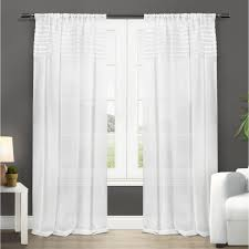 Winter Window Curtains Barcelona Winter White Sheer Rod Pocket Top Window Curtain Eh7946