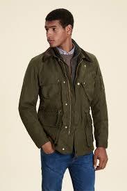 cadwell waxed jacket coats jackets clothing men hackett