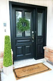 front doors painting front door gloss black front door repainted