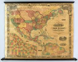 Central America Physical Map by Historical Maps Of The United States And North America Vivid Maps