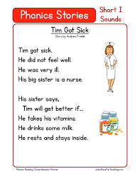 this reading comprehension worksheet tim got sick is for
