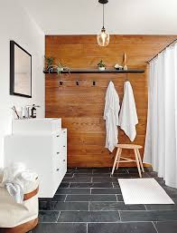Accent Wall In Bathroom 10 Bathrooms Nailing The Natural Wood Trend