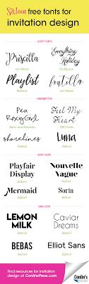16 free fonts for invitation design