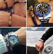 gold skull bracelet men images Magnetic skull black and gold leather bracelet quarter past nine jpg