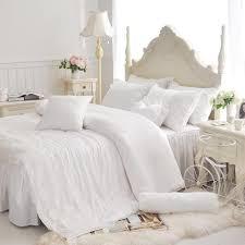 copriletti romantici acquista set di biancheria da letto in pizzo bianco in cotone 4