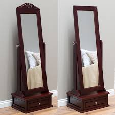 Floor Mirrors For Bedroom by Belham Living Removable Decorative Top Cheval Mirror Espresso