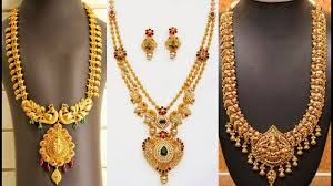 long chain locket necklace images Gold peacock haram designs long chains collection jpg