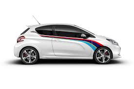 peugeot 208 peugeot 208 gti rally side stripe graphics decals aufkleber
