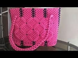 youtube cara membuat tas rajut dari tali kur macrame purse final look youtube membuat tas pinterest